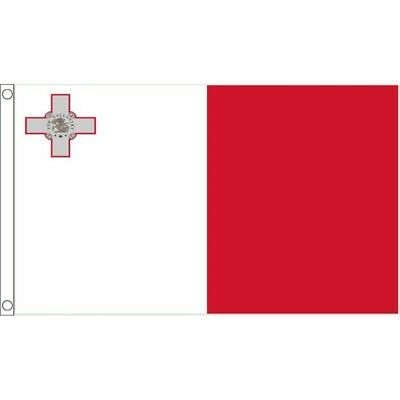 5ft x 3ft Malta Flag With 2 Eyelets - Large 5x3 European Country Flags 5ftx All