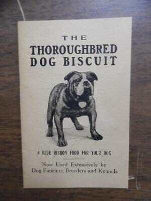 c.1920s THOROUGHBRED DOG BISCUIT COMPANY Dog Food Brochure Vintage Veterinary