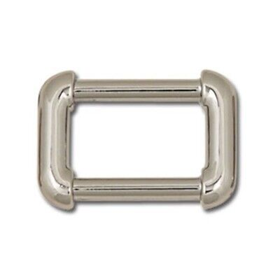 "Rounded Strap Ring Np - 3 4"" Nickel Plate Leathercraft Design Accent Tandy"