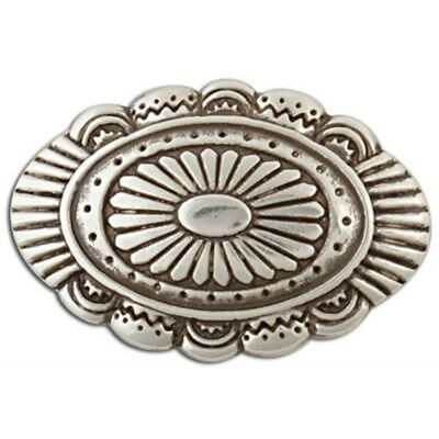 Laguna Concho - Antiqe Silver Plate Tandy Leather Craft 712004 Decorate