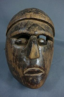 Antique Xin Hand carved Ceremonial Dance Mask from Solola, Guatemala