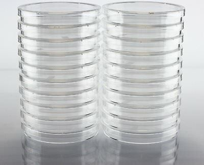 EZ Bioresearch Sterile 100 mm X 15 mm Petri Dish with Lid, vented, 2 x Pack of
