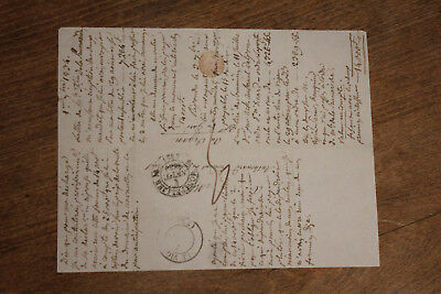 1834 manuscript french letter of discharge justice court stamped signed 1us$ sta