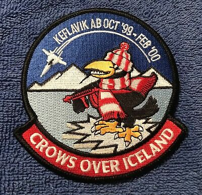 """USAF Patch: 60th Fighter Squadron """"Crows over Iceland"""" TDY 1999-2000 rare F-15"""