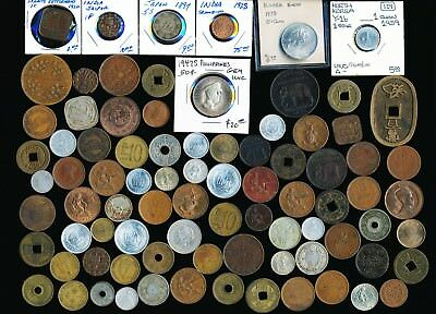84 Old Asia Coins (China Japan & More) Must See > No Reserve