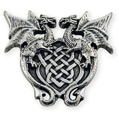 Winged Dragon Crest Concho - Leathercraft Decorative Accent Tandy Leather