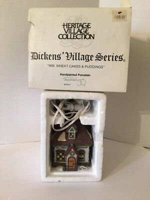 Dept 56 Dickens Village WM. Wheat Cakes and Pudding 58084 Lighted
