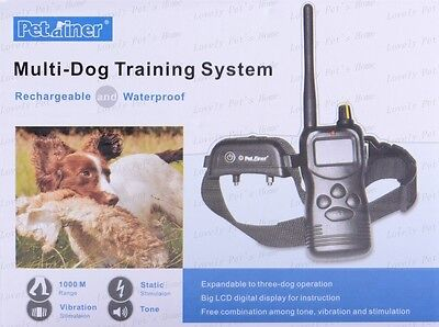 1000 Yard Waterproof Rechargeable Remote Pet Dog Training Shock Vibration Collar