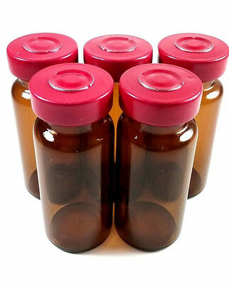 10mL Sterile Amber Glass Vials - 10 Pack - FREE SHIPPING