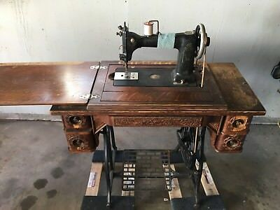 Antique Wheeler And Wilson Treadle Sewing Machine 1890's