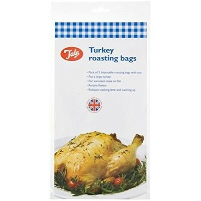 Tala 2-piece Turkey Roasting Bags, Transparent - Bags Cooking Meat Fish 2 Oven