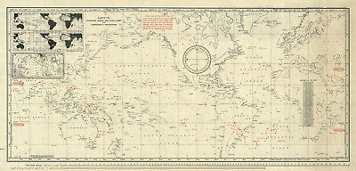 """LARGE 23""""x48"""" Nautical World and Star Chart Map Astronomy Wall Poster History"""