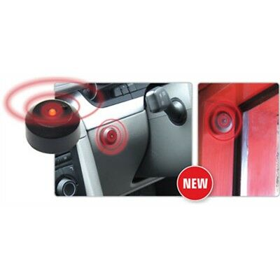 Black & Red Flashing LED Light - Car Alarm Dummy Flashes Battery Operated Stick