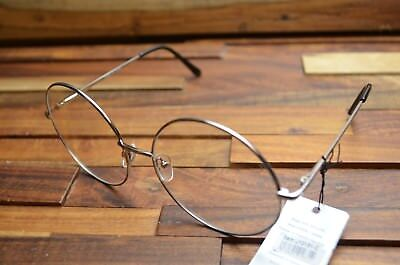 Vintage Large Metal Frame Clear Lens Round Circle Eye Glasses Nerd Chrome
