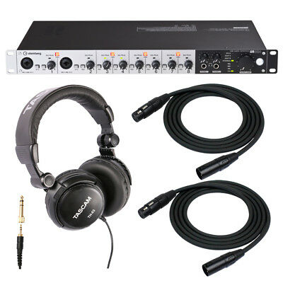 Steinberg UR824 USB 2.0 Audio Interface with Headphones and 2 XLR Cables