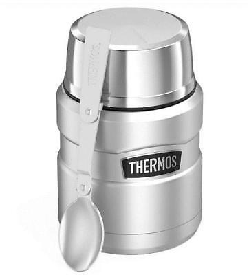 Thermos Stainless King Vacuum Insulated Food Jar (16 oz/ Stainless Steel)