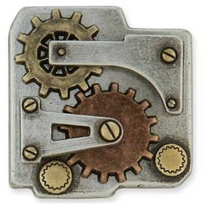 Gear Box Concho An - Plate Nickel Gold Copper Plated Tandy Leather Craft