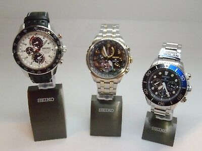 "Seiko Watch Highlight Display Stands Aluminium Billet 3 Pcs 1"",  1 3/4"", 2 5/8"""