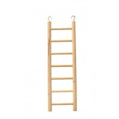 7 Step Wooden Ladder For Bird Cages - Budgie James Steel Toy Rung 11 Classic