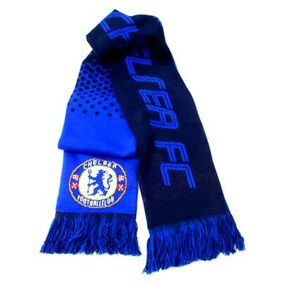 Chelsea Jacquard Fade Design Scarf - Knitted Official Football Team Soccer