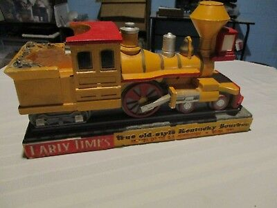 Early Times Kentucky Bourbon chalkware statue train locomotive