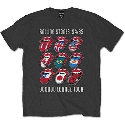 XL Grey Men's The Rolling Stones Voodoo Lounge Tongues T-shirt - Mens Tshirt