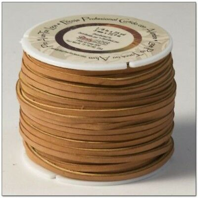"""Tandy Leather Pro Alum Tanned Lace 1/8"""" x 25 Yds (3mm x 22.8 M) Tan 5058-01 -"""