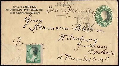 USA GERMANY Franked Fort Smith Ark. March 88 To Wuerzburg Cover