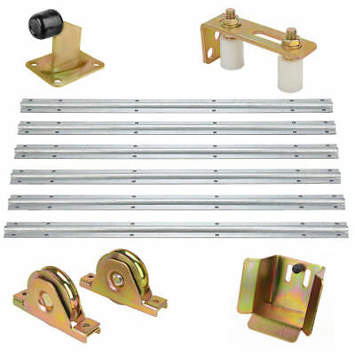 Sliding Gate Track Hardware Accessories Kit Stopper Wheels Roller Guide Opener