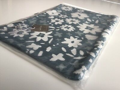 Dwell Studio Knit Pillow Cover Posey Flower Jade Blue White Baby Girls New