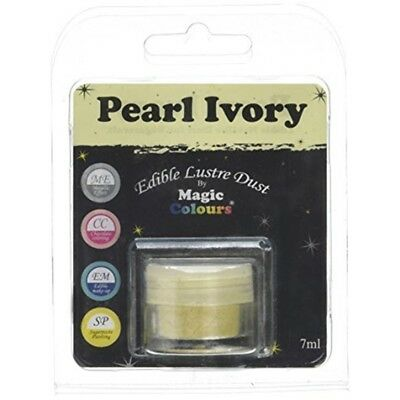 Magic Colours Edible Lustre Dust Pearl Ivory - 7ml