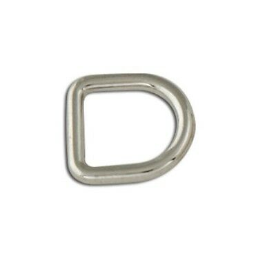 "Tandy Leather Decorative Solid D-rings 3/8"" (10mm) Nickel Free Plate 6/pk - Dee"