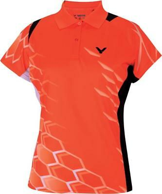 VICTOR Damen Polo National orange 6275 Function Lady Sport Shirt Trikot Größe M