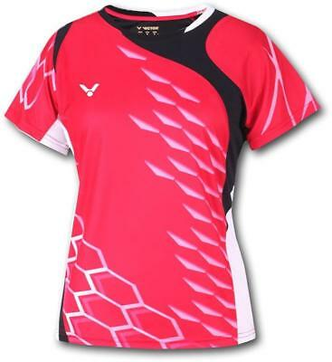 VICTOR Damen Badminton Trikot National 6295 rot Function Lady Sport Shirt Gr. XS