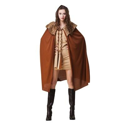 Bristol Novelty Ac063 Ladies Short Brown Plush Collar Cape (one Size) - Fancy