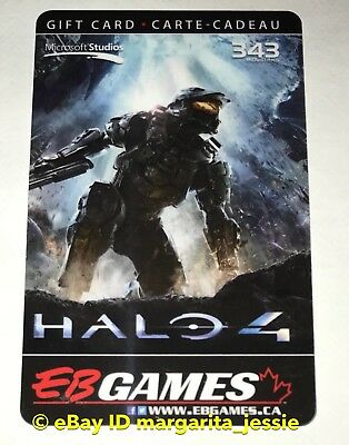 """Eb Games/game Stop Gift Card Halo 4 """"Master Chief"""" Collectible No Value New"""