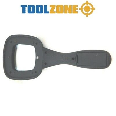 """Toolzone 4"""" Magnifying Glass - 4 Lens Large Optical Magnifier 100mm Clarity"""