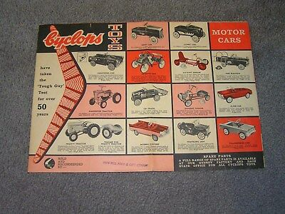 Cyclops Toys , Pedal Cars , Cox , Scalextric ,minic , Triang Pedigree , Poster