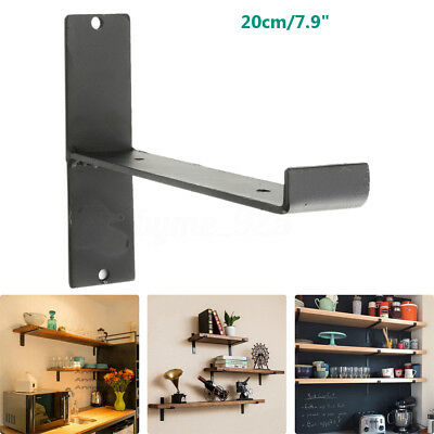 8'' Loft Retro Industrial Square Iron Shelf Support Tube Wall Shelves Brackets