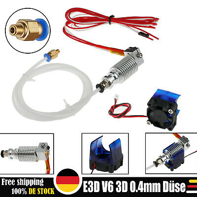 E3D V6 All metal J-head hotend 0.4mm Düse für 1.75mm Filament 3D Drucker printer