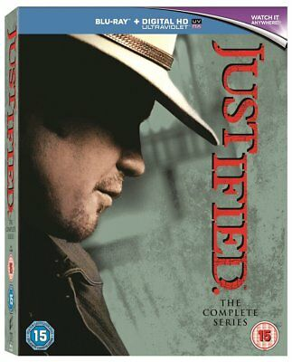"""Justified The Complete Series 18 Disc Box Set Blu-Ray Rb Australia """"new&sealed"""""""