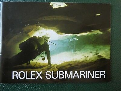 "Rolex SUBMARINER Booklet  ENG 8"" 5513, 16800, 16660, 16808"