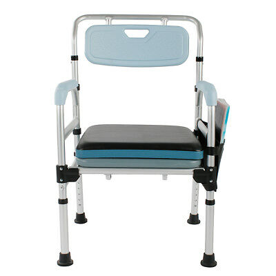 Medical Commode Chair and Toilet Seat Chair 3-in-1 Bathroom Chair