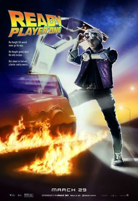 Poster Ready Player One Back To The Future Brat Pack Vintage Spielberg Delorean