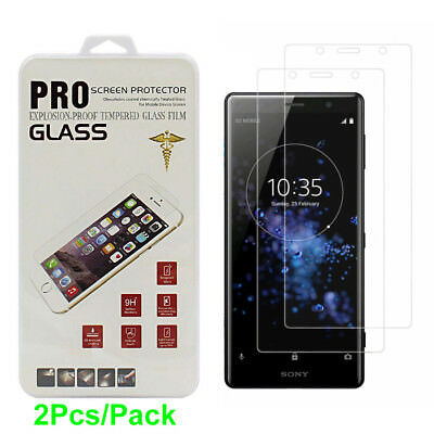 2Pcs 3D Full Clear Tempered Glass Screen Protector For Sony Xperia XZ2 / Compact