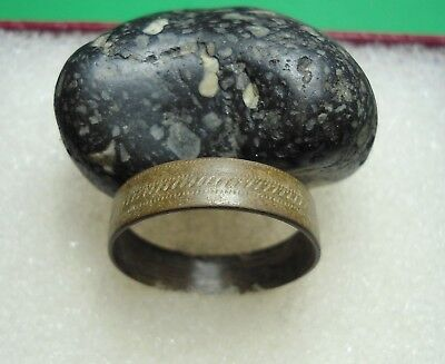 Ancient Roman Bronze Ring Original Authentic Antique Rare R198