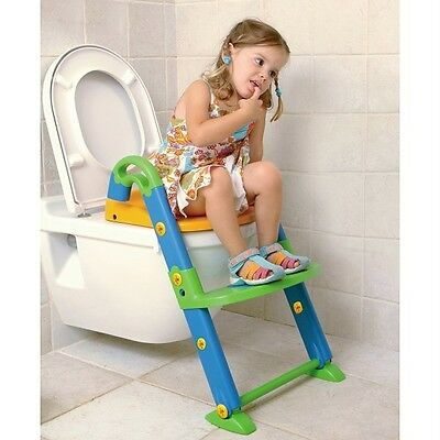 Baby Toddler Toilet Trainer Seat Potty Step Stool Potty Training 3 in 1 New