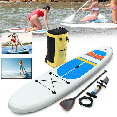 305*81*10cm Stand Up Paddle Surfbrett aufblasbar Board SUP Set + Paddling Paddel