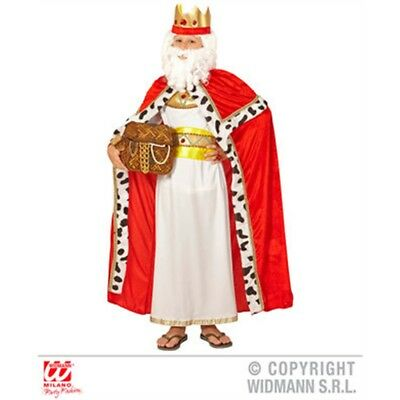 140cm Red Children's King Cape - Boys Accessory Royal Regal Sire Medieval