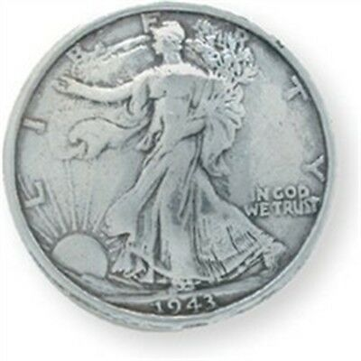 Liberty Half Dollar Concho - Silver Screwback 11875